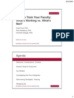 How Do You Prepare Your Faculty? What's Working, What's Not, and What to Do? (237135630)