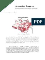 Aos Poucos Texto - Aos Poucos a Amazonia Desaparece