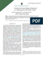 Trade Liberalization Promotes Regional Disparities