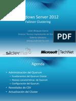 Webcast Windows Server 2012 Failover Cluster 10-08-14