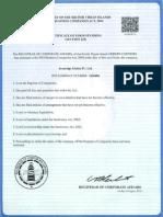 Ironridge Global IV, Ltd. Certificate of Good Standing