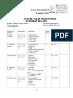 Planificare Clasa Pregatitoare Engleza
