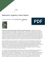 Masonería_ Orígenes y Breve Historia _ Mística