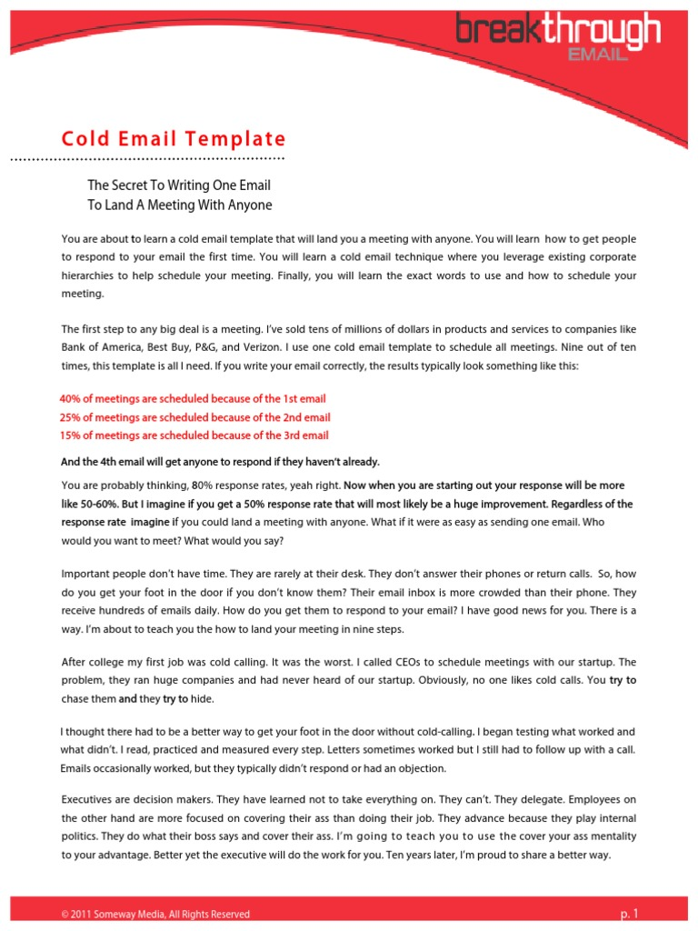 cold email template 2 0 revised email text messaging