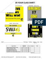 Shirts Order Form 2014 Prom