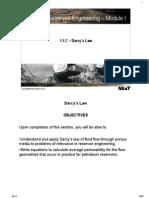 D (I-1C) Darcys Law