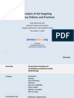 Analysis of Ad-Targeting Privacy Policies and Practices - Privacy Choice