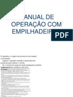 Manual de Operação Com Empilhadeiras