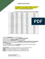 Examen de Excel Básico