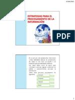 3.4. Estrategias Para El Procesamiento de La Información