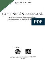 Kuhn, T.S., La Tensión Esencial