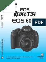 Canon Rebel T3i EOS 600D Manual
