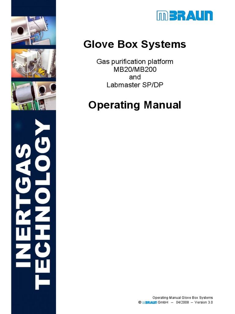 MB20-200 LMSP-DP STD en Glovebox Manual - MBraun | Safety | Pipe ...
