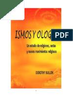 Ismos y Ologías- Estudio de Religiones, Sectas y Nuevos Moviminetos Religiosos-Dorothy Bullon-Agosto 2014