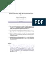 Resolução Micro ANPEC 2014