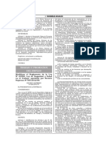 D.S. 006-2014-TR Modifica Reglamento de LSST 005-2012-TR