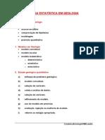 002 - Aplicações Da Estatística Em Geologia