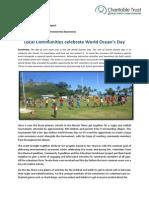 GVI Fiji Achievement Report July 2014 - Yasawas, World Oceans Day JULY