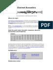 Clarinet Acoustics
