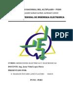 Informe de Vumetro Analogico Instrumentacion y Medida