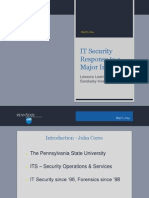 IT Security Response to Major Incident (Lessons Learned from the Sandusky Scandal) (237155315)