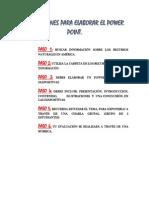 indicaciones para elaborar el power point