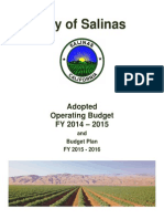 COS 2014-2015 Operating Budget