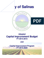 COS 2014-2015 CIP Adopted Budget