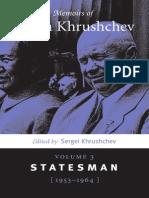 Memoirs of Nikita Khrushchev Volume 3