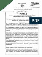 Decreto 1744 Del 13 de Agosto de 2013