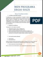 Resumen Programa Sergio Solís