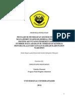 Proposal Penelitian Magister Akuntansi