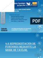 4.6 Representación de Funciones Mediante La Serie de Taylor EQ4