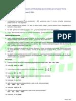Hoja de actividades de proporciones, repartos y porcentajes (3º ESO)