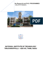 Prospectus for admission to MS and PHD programmes - NIT Trichy