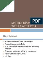 Market Update Week 1 April 2014