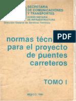 SCT - Normas Técnicas Para El Proyecto de Puentes Carreteros Tomo I