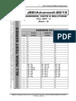 Fulltest II Advanced Paper 2 Answer Sol Aits 2013 Ft II Jeea Paper 2