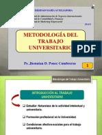 Clase 01 - Introduccion Al Trabajo Universitario