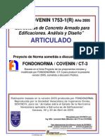 Covenin 1753-1-2005 Estructura de concreto armado en edificaciones, articulado.pdf