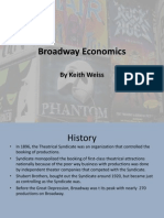 Broadway Economics Powerpoint Presentation