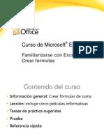 Crear Formulas en Excel