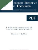 Cláusula Ipso Facto - Bankruptcy Clause Abstract