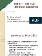 Microeconomics The Five Foundations of Economics Ch.1