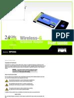 Linksys Wireless G  Notebook Adapter