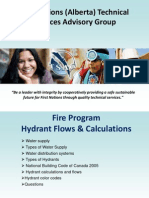 TSAG Fire Program Hydrant Flows and Calculations