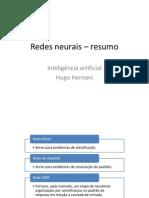 Redes Neurais – Resumo