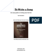 How to Write a Song FREE 4 1
