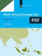 Indonesia Multi Annual Strategic Plan 2014 2017