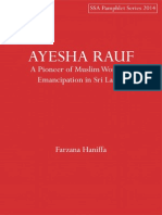 AYESHA RAUF- A Pioneer of Muslim Women's Emancipation in Sri Lanka